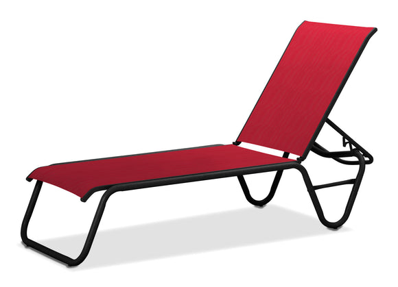 Gardenella Sling Stacking Armless Chaise Lounge