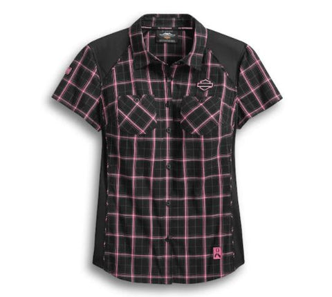 Camisa a cuadros Pink Label Performance para mujer 99040-20VM