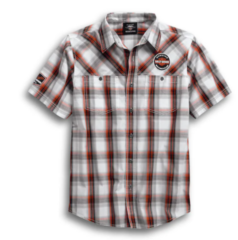 Genuine Oil Can Plaid Shirt para hombre 99067-18VM