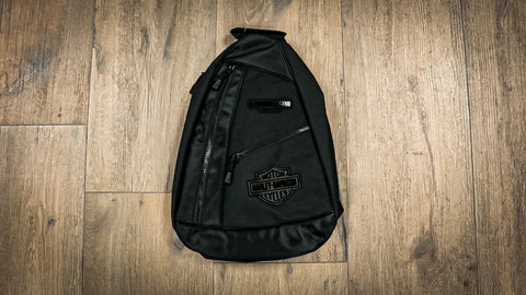 Harley-Davidson Rubber Patch Black Bar & Shield Sling Mochila BP2069S-BLKBLK
