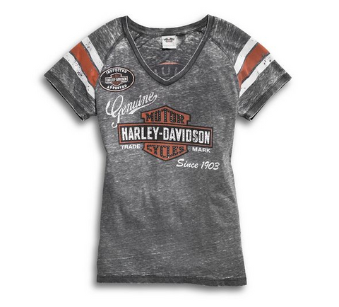 Blusa Retro Harley-Davidson Estilo Genuine Oil Can 99196-14VW