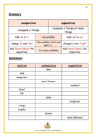 M113 👉 Comparative Adjectives, Superlative Adjectives Antonyms