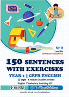 💥Softcopy💥M19 [Year 1 English] 150 Sentences with Exercises | [一年级英文] 150个句子与练习