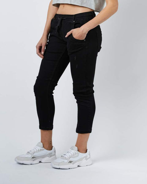 Active Denim Black Pants