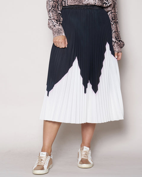 Sunray Skirt - Black/Pink/white Himilayan