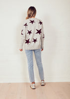 The Stars Knit Jumper - Grey Marle/Merlot