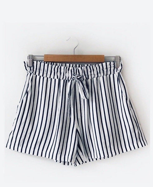 Summer Short - Navy Stripe
