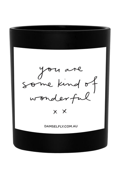 'Wonderful' Large Candle
