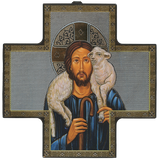 "Cross Icon ""Good Shepherd""-Icône Croix ""Bon Pasteur""-Icono de cruz ""Buen Pastor""-Italy"