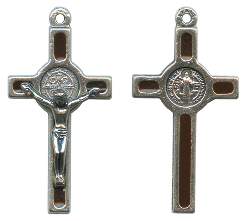 "St. Benedict's Cross Mini - Croix de Saint Benoît Mini - Cruz de San Benito Mini - 40mm - 1½"" Made in Italy"