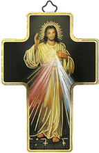 "Load image into Gallery viewer, Cross""Divine Mercy""-Croix ""Divine Miséricorde""-Cruz ""Divina Misericordia"" Made in Italy"