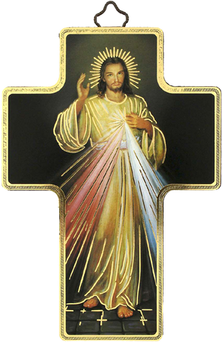 "Cross""Divine Mercy""-Croix ""Divine Miséricorde""-Cruz ""Divina Misericordia"" Made in Italy"