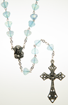 Glass Rosary with Aqua shell shaped beads - RM92A-7