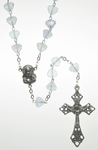 Glass Rosary with Clear glass shell shaped beads - RM92A-15