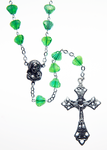 Glass Rosary with Emerald color shell shaped beads - RM92A-17