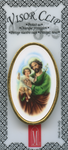 St. Joseph visor clip made in Italy, year of St. Joseph