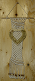 "MACRAME WALL HANGING ""BE MY VALENTINE"" - W02"