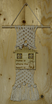 "MACRAME WALL HANGING ""HOME IS WHERE THE HEART IS"" - W04"