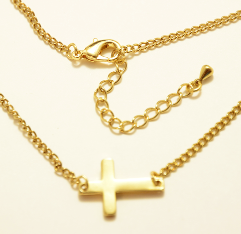 Necklace Cross-Collier Croix-Collar Cruz-X&N043BX