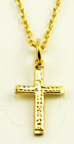 Necklace Cross-Collier Croix-Collar Cruz-X&AQ11S