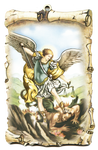 St. Michael wall plaque - PLE-AN52