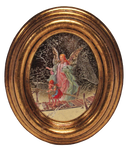 Gilded Oval Picture Frame of Guardian Angel-QA8012-008