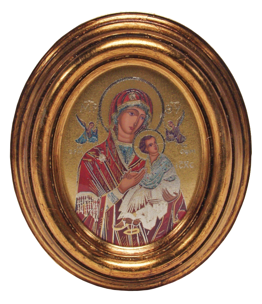 Icon of Mary and Child Jesus - Icône de Marie et de l'Enfant Jésus -  Icono de María y el Niño Jesús 2.5cm x 10.5cm - 5