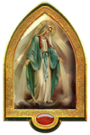 Our Lady of Grace  gold plated Vault - QA8040-1001 - Made in Italy