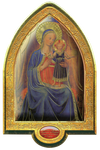 Mother and Child (FRA ANGELICO)  gold plated Vault -QA8040-1116-Made in Italy.