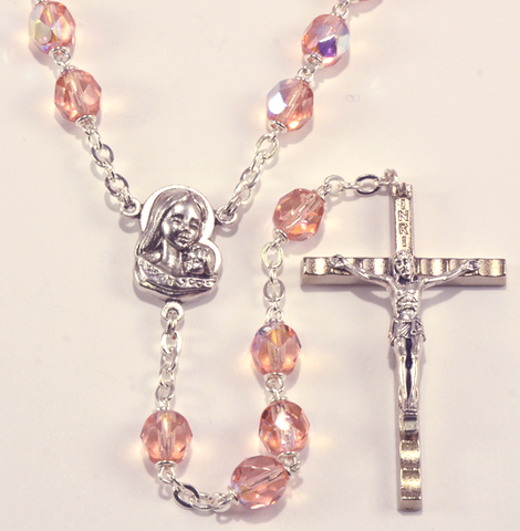 Crystal rosary - RC45AT-6