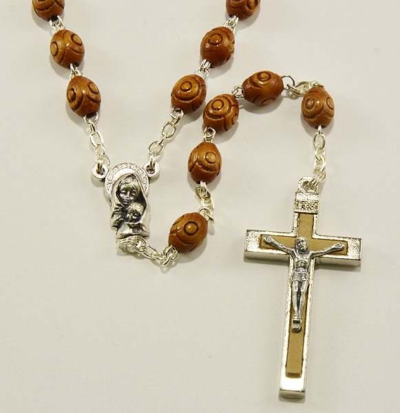 Wood rosary-Chapelet en bois-Rosario de madera Made in Italy