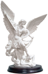 Marble dust St. Michael statue SPA692 - Made in Italy