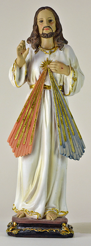 "Statue of Divine Mercy, Jesus 30 cm, 12"" China."
