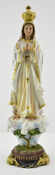 Statue Madonna of Fatima colored . height 30 cm, 12