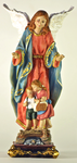 "Statue of Guardian Angel with children, height 30 cm, 12"".  Made in China"
