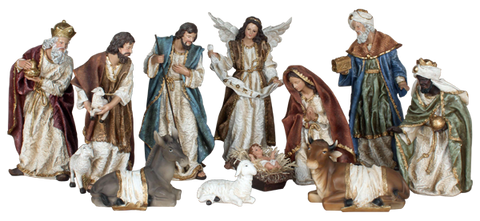 Nativity set- SYLA113A-12 -11pieces - 30cm - 12""