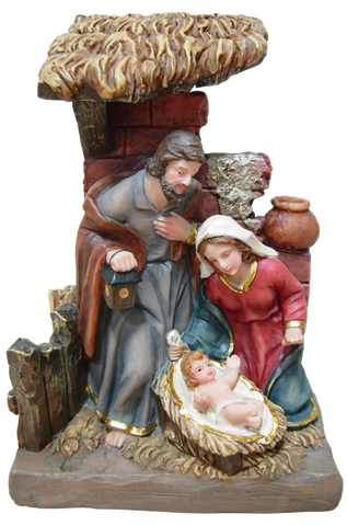 Nativity set - SYLG2048G-7 - 17cm - 7""