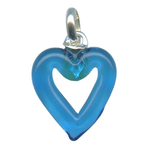 Genuine Venetian Murano glass pendent Heart - XMUH-11