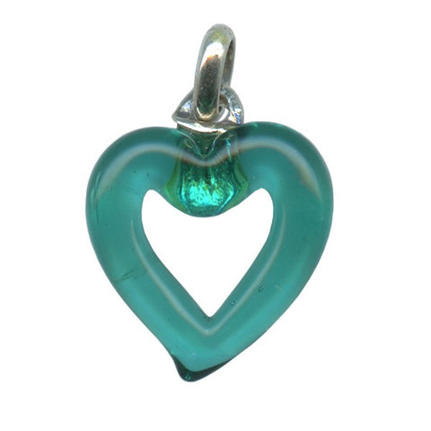 Genuine Venetian Murano glass pendent Heart - XMUH-17