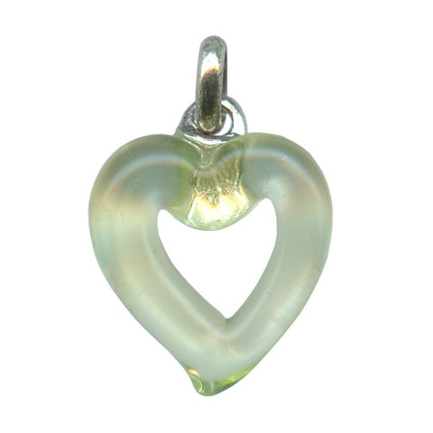 Genuine Venetian Murano glass pendent Heart - XMUH-15