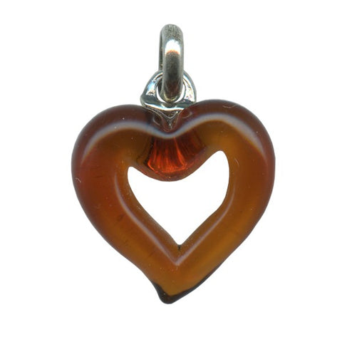 Genuine Venetian Murano glass pendent Heart - XMUH-9