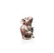 little bronze sculpture mouse holding tail