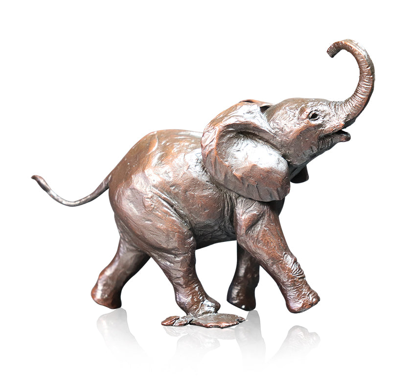 Baby Elephant Bronze Sculpture Michael Simpson Limited Edition