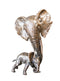 elephant mother and baby bronze sculpture limited edition keith sherwin