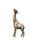 miniature bronze giraffe gift butler and peach