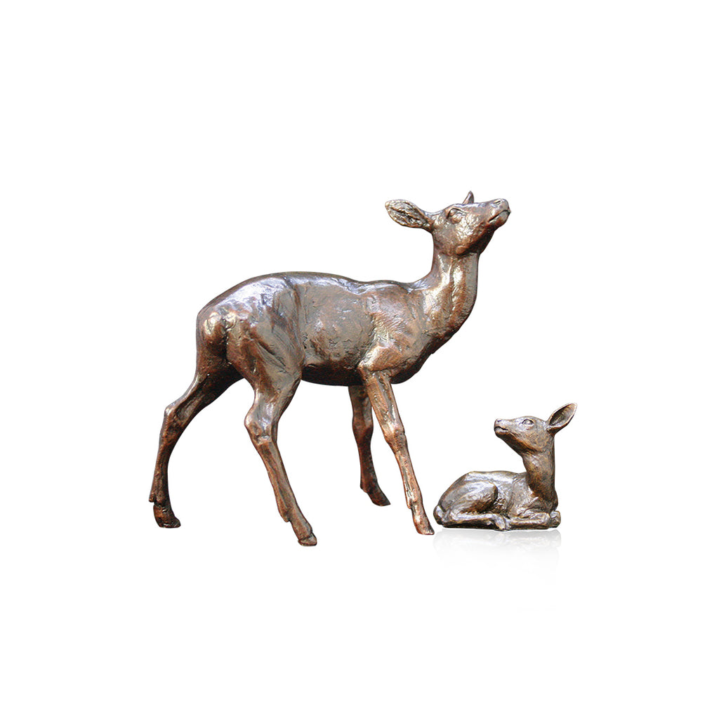 bronze hind and fawn michael simpson limited edition richard cooper