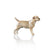 border terrier dog hand painted bone china gift