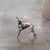 miniature bronze whippet dog gift sculpture butler and peach