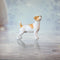 hand painted bone china jack russell dog standing gift figurine