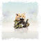 hand painted bronze mice couple woodland sculpture